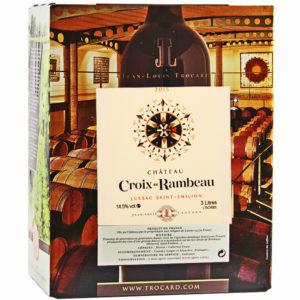 Château Croix de Rambeau Rotwein Lussac Saint-Émilion Bag in Box 3 Liter