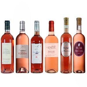 Weinpaket mit 6 Flaschen Bordeaux Roséwein
