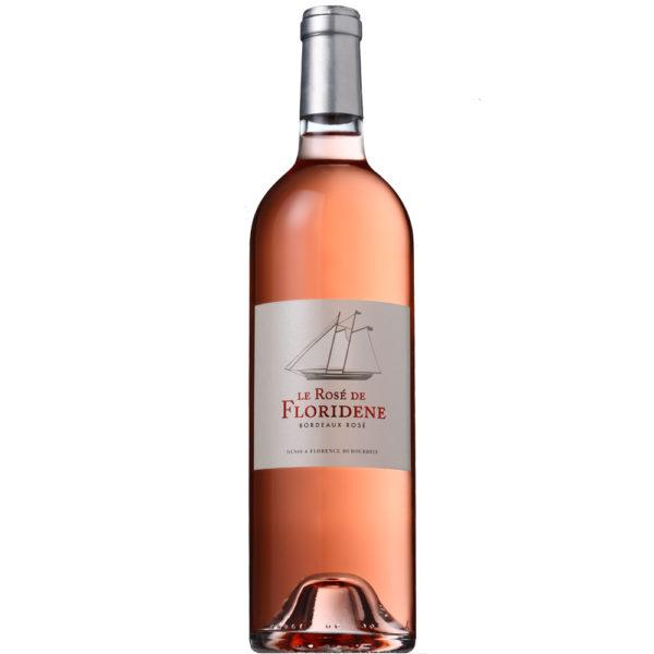 Flaschenansicht von Le Rose de Floridene, Roséwein von Dubourdieu