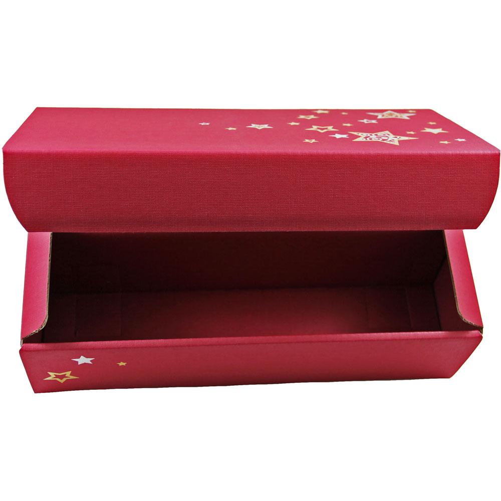 wein geschenkkarton 2er in rot mit sternen villa vitis. Black Bedroom Furniture Sets. Home Design Ideas